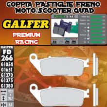 FD266G1651 PASTIGLIE FRENO GALFER PREMIUM ANTERIORI SUMCO 250 TWIN 05-