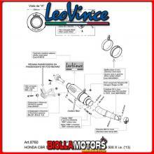 8760M TERMINALE LEOVINCE HONDA CB 500 F 2013-2015 500CC GP CORSA MATTE CARBONIO