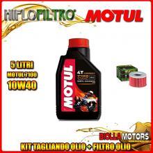 KIT TAGLIANDO 5LT OLIO MOTUL 7100 10W40 HONDA TRX650 FA Fourtrax Rincon 650CC 2003-2005 + FILTRO OLIO HF111