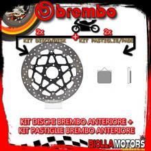 KIT-8N19 DISCO E PASTIGLIE BREMBO ANTERIORE KTM SUPER DUKE 990CC 2005- [SA+FLOTTANTE] 78B40870+07BB33SA