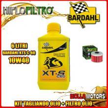 KIT TAGLIANDO 6LT OLIO BARDAHL XTS 10W40 HONDA TRX500 FE Fourtrax Foreman 4 x 4 ES 500CC 2005-2016 + FILTRO OLIO HF113