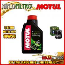 KIT TAGLIANDO 5LT OLIO MOTUL 5100 10W50 HONDA CBR1000 F Hurricane 1000CC 1987-1995 + FILTRO OLIO HF303