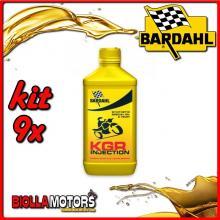 KIT 9X LITRO OLIO BARDAHL KGR INJECTION E CARBURATORE LUBRIFICANTE PER MOTO 2T 1LT - 9x226041