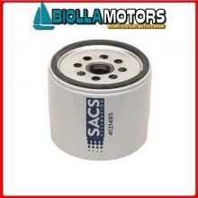 4121485 CARTUCCIA OIL M-35-866340Q03C< Filtro Olio Sacs per Motori 4/6CL In Linea - V8
