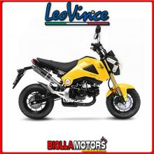 9726 TERMINALE LEOVINCE HONDA MSX 125/GROM 2013-2015 GP CORSA CARBONIO/INOX