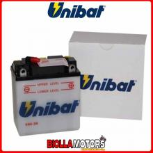6N6-3B-SM BATTERIA UNIBAT 6N6-3B-SM SENZA ACIDO 6N63BSM MOTO SCOOTER QUAD CROSS
