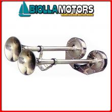 1901202 TROMBA DUAL L500 12V INOX Trombe Doppie AA Inox