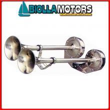 1901204 TROMBA DUAL L500 24V INOX Trombe Doppie AA Inox
