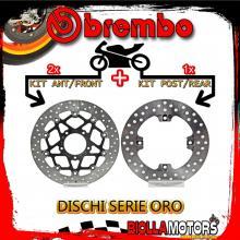 BRDISC-4221 KIT DISCHI FRENO BREMBO MV AGUSTA BRUTALE 2013- 675CC [ANTERIORE+POSTERIORE] [FLOTTANTE/FISSO]