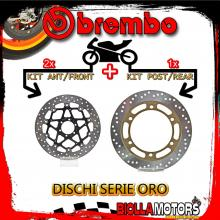 BRDISC-4182 KIT DISCHI FRENO BREMBO MOTO GUZZI DAYTONA RS 1996- 1000CC [ANTERIORE+POSTERIORE] [FLOTTANTE/FISSO]
