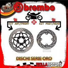 BRDISC-3994 KIT DISCHI FRENO BREMBO KAWASAKI ZX 9R 2000-2001 900CC [ANTERIORE+POSTERIORE] [FLOTTANTE/FISSO]