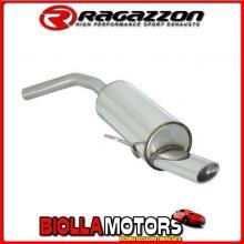 58.0001.10 SCARICO Evo Alfa Romeo 156 1.9JTD (77/81/85/103/110kW) Berlina + Sportwagon 1997> Posteriore inox con terminale ovale