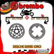 BRDISC-2955 KIT DISCHI FRENO BREMBO DUCATI MONSTER S4 1000 R 2003-2004 1000CC [ANTERIORE+POSTERIORE] [FLOTTANTE/FISSO]