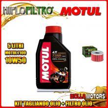 KIT TAGLIANDO 5LT OLIO MOTUL 7100 10W50 HONDA TRX650 FA Fourtrax Rincon 650CC 2003-2005 + FILTRO OLIO HF111