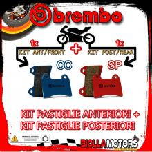 BRPADS-40281 KIT PASTIGLIE FRENO BREMBO FRIGERIO PUCH REPLAY 1989- 250CC [CC+SP] ANT + POST
