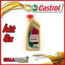 KIT 8X LITRO OLIO CASTROL EDGE 0W30 LT1 - 8x EDGE 0W30