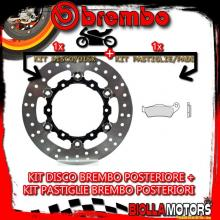 KIT-HOZR DISCO E PASTIGLIE BREMBO POSTERIORE KTM LC8 ADVENTURE R 990CC 2010-2012 [GENUINE+FLOTTANTE] 78B408A6+07BB0435