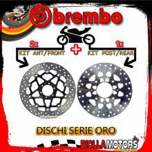 BRDISC-3564 KIT DISCHI FRENO BREMBO HONDA VFR F 1994-1997 750CC [ANTERIORE+POSTERIORE] [FLOTTANTE/FISSO]
