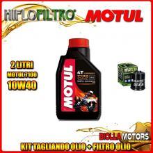 KIT TAGLIANDO 2LT OLIO MOTUL 7100 10W40 PIAGGIO 125 Beverly GT / Rst / Sport / MIC / Tourer 125CC 2001-2011 + FILTRO OLIO HF183