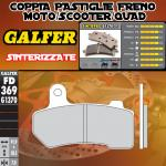 FD369G1370 PASTIGLIE FRENO GALFER SINTERIZZATE POSTERIORI HARLEY DAVIDSON FLHTCU ULTRA CLASSIC ELECTRA GLIDE08-