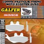 FD162G1054 PASTIGLIE FRENO GALFER ORGANICHE ANTERIORI DERBI SENDA DRD 125 R RACING 06-