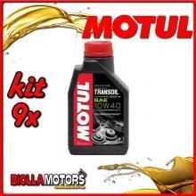KIT 9X LITRO OLIO MOTUL TRANSOIL EXPERT 2T 2 - STROKE GEARBOX OIL SAE 10W40 (PER INGRANAGGI) - 9x 105895