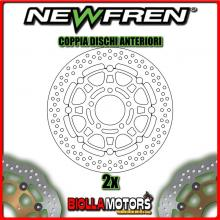 2-DF5229AF COPPIA DISCHI FRENO ANTERIORE NEWFREN SUZUKI GSX 600cc F 2003-2006 FLOTTANTE