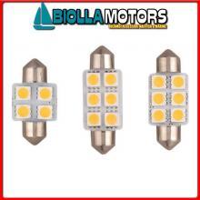 2161602 LAMPADINA SILURO LED 12V L31< Lampadine Siluro Power LED