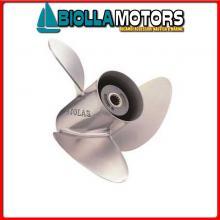 498333111114 ELICA 3P INOX 11 1/8X14 Eliche Solas per Motori Evinrude & Johnson