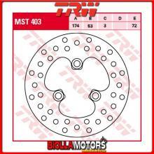 MST403 DISCO FRENO ANTERIORE TRW Honda TRX 400 EX Fourtrax 1999-2002 [RIGIDO - ]