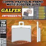 FD228G1380 PASTIGLIE FRENO GALFER SINTERIZZATE POSTERIORI DERBI RAMBLA 300 ie 10-