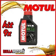KIT 9X LITRO OLIO MOTUL FORK OIL EXPERT MEDIUM 10W FORCELLA - 9x 105930