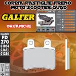 FD270G1054 PASTIGLIE FRENO GALFER ORGANICHE POSTERIORI DERBI FREEXTER 125 06-