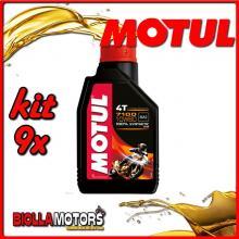 KIT 9X LITRO OLIO MOTUL 7100 4T 10W60 100% SINTETICO PER MOTORI 4T - 9x 104100