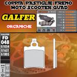 FD048G1054 PASTIGLIE FRENO GALFER ORGANICHE POSTERIORI DERBI GPR 50 SPORT 93-96