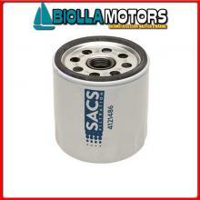 4121486 CARTUCCIA OIL M-35-883702QC< Filtro Olio Sacs per Motori V-6