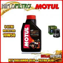 KIT TAGLIANDO 5LT OLIO MOTUL 7100 10W50 HONDA CBR1000 F Hurricane 1000CC 1987-1995 + FILTRO OLIO HF303