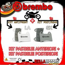 BRPADS-12953 KIT PASTIGLIE FRENO BREMBO GAS GAS EC 2000-2016 200CC [LA+SX] ANT + POST