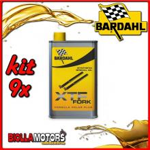 KIT 9X 500ML OLIO BARDAHL XTF FORK SYNTHETIC OIL OLIO FORCELLA 1/2 LT - 9x 443039