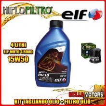 KIT TAGLIANDO 4LT OLIO ELF MOTO 4 ROAD 15W50 KTM 640 Duke 2nd Oil 640CC - + FILTRO OLIO HF156