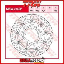 MSW234SP DISCO FRENO ANTERIORE TRW Honda CBR 1000 RRFireblade,SP-SP2 2017- [FLOTTANTE - ]