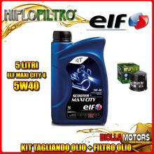 KIT TAGLIANDO 5LT OLIO ELF MAXI CITY 5W40 SUZUKI GSX1100 F-J,K,L,M,N,P,R,S,T 1100CC 1988-1996 + FILTRO OLIO HF138