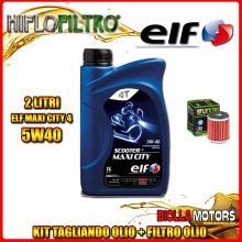 KIT TAGLIANDO 2LT OLIO ELF MAXI CITY 5W40 HUSQVARNA SMR125 4T 125CC 2012- + FILTRO OLIO HF140