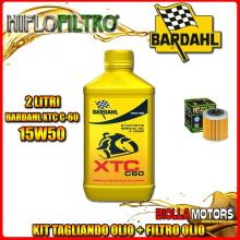 KIT TAGLIANDO 2LT OLIO BARDAHL XTC 15W50 HUSQVARNA SM450 R 450CC 2008-2010 + FILTRO OLIO HF563
