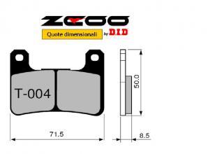 45T00400 PASTIGLIE FRENO ZCOO (T004 EX) SUZUKI GSX-R 600 2004-2005 (ANTERIORE)