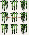 8250 Adesivo Monster Energy 9pz Medi 16x13,5 cm
