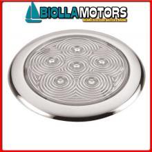 2140040 PLAFONIERA SLIM D94 LED INOX< Plafoniere Bright Slim Inox LED