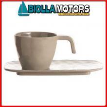 5801454 MB BALI SET 6 TAZZA CAFFE+PIATT Tazzina da Caffè con Piattino
