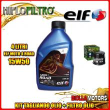 KIT TAGLIANDO 4LT OLIO ELF MOTO 4 ROAD 15W50 YAMAHA FJ-09 850CC 2015-2016 + FILTRO OLIO HF204