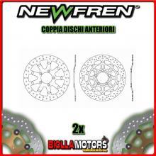 2-DF5213AF COPPIA DISCHI FRENO ANTERIORE NEWFREN TRIUMPH DAYTONA i 955cc 955i 2003-2006 FLOTTANTE